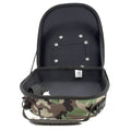 the woodland camouflage new era cap carrier has a black interior