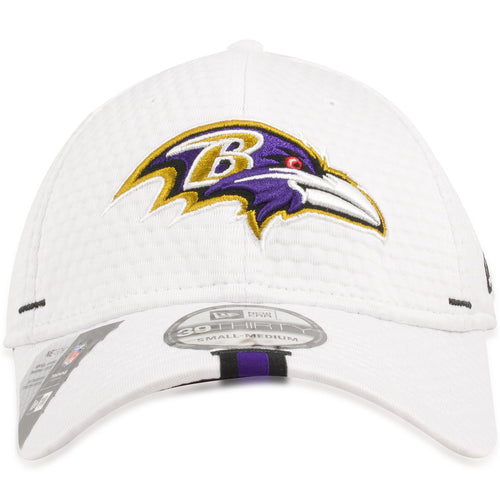 Baltimore Ravens 2019 Training Camp White 39THIRTY Flexfit Cap