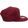 the philadelphia phillies maroon cooperstown snapback hat has a maroon crown and a maroon brim