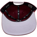 the under brim of the philadelphia phillies cooperstown maroon snapback hat has a gray under brim
