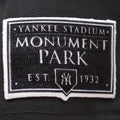 the yankees monument park patch says yankees stadium, monument park, est 1932