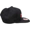 the lehigh valley iron pigs snapback hat is solid black