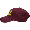 the bel air academy dad hat has a maroon button