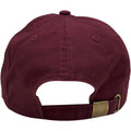 the bel air academy dad hat has a maroon adjustable strap