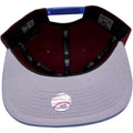 the under brim of the 1970s philadelphia phillies maroon snapback hat is gray