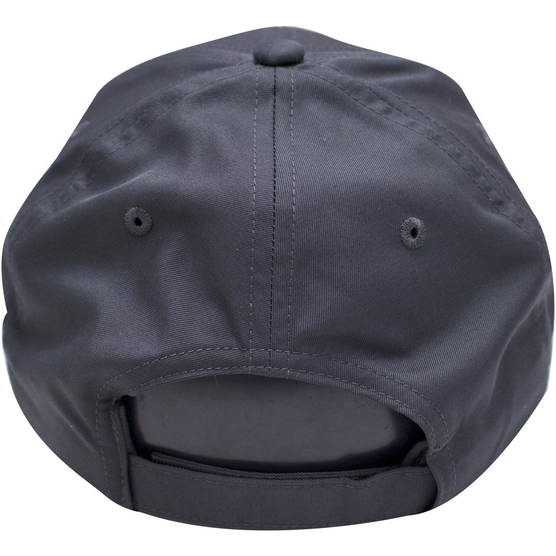 84bc027d5b0 ... on the back of the nike drifit gray ball cap is an adjustable velcro  strap ...
