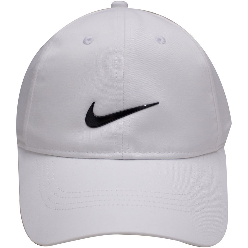 b9ef686fa62 ... top quality the white nike dri fit ball cap has a white crown and a  white
