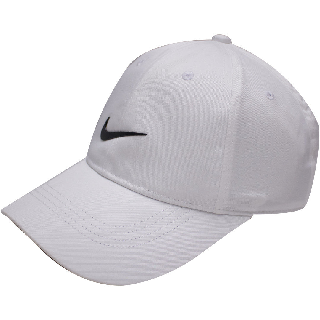 93bff9c387 ... the nike dri-fit ball cap has a bent white brim and a stuructured white  ...