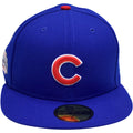 the chicago cubs 2016 world series championship fitted cap is blue with a structured crown and a flat brim
