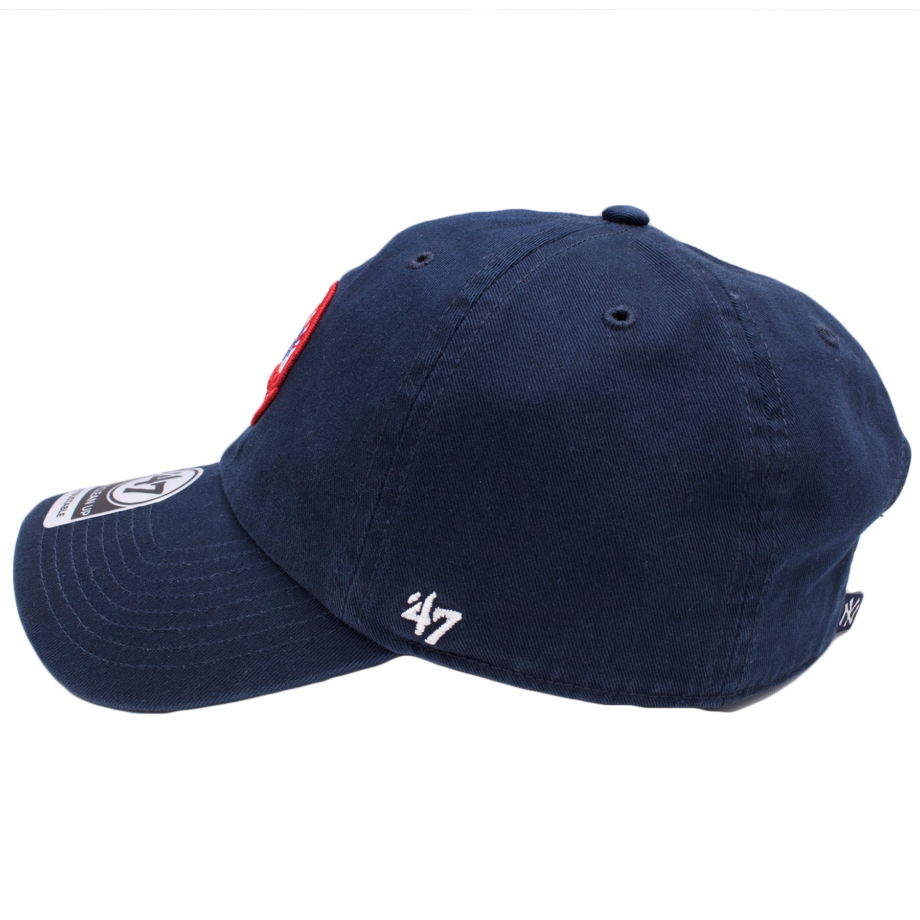 f1cef88b21614 ... on the left side of the new york yankees vintage dad hat there is a  white ...