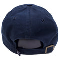 on the back of the vintage 47 brand new york yankees dad hat, is a navy blue adjustable strap