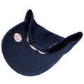 the under brim of the navy blue new york yankees vintage dad hat is navy blue