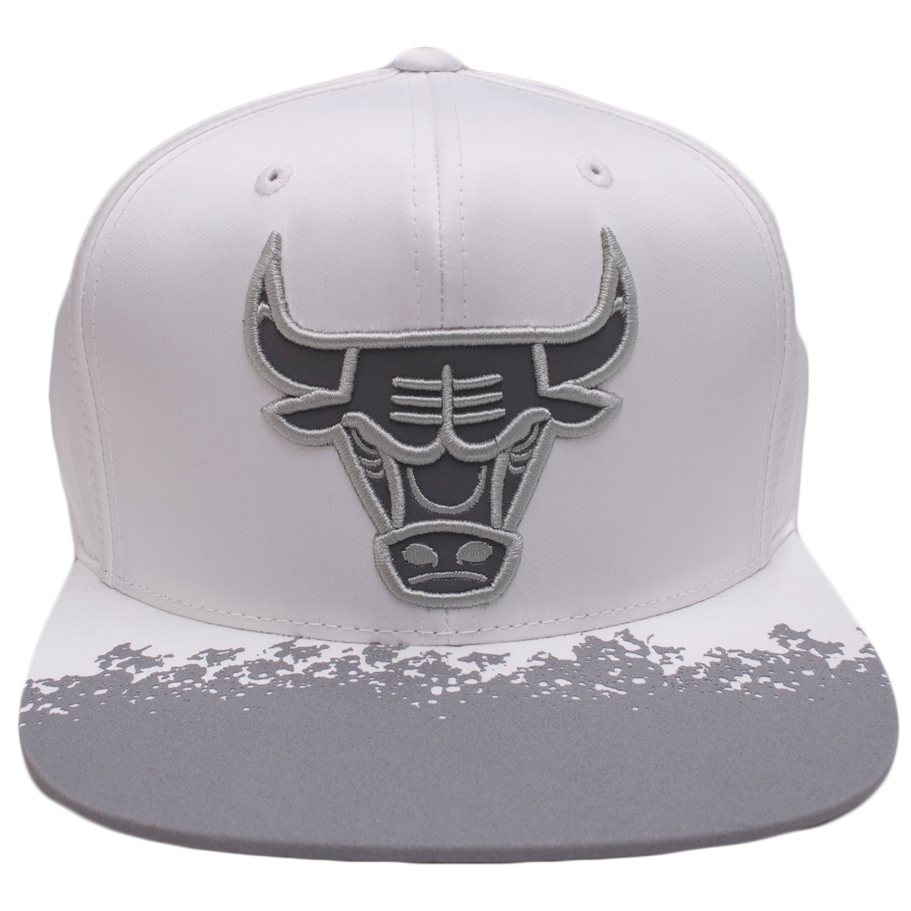 13204bf5167 ... ireland the white chicago bulls reflective lava snapback hat is white  with a gray reflective chicago