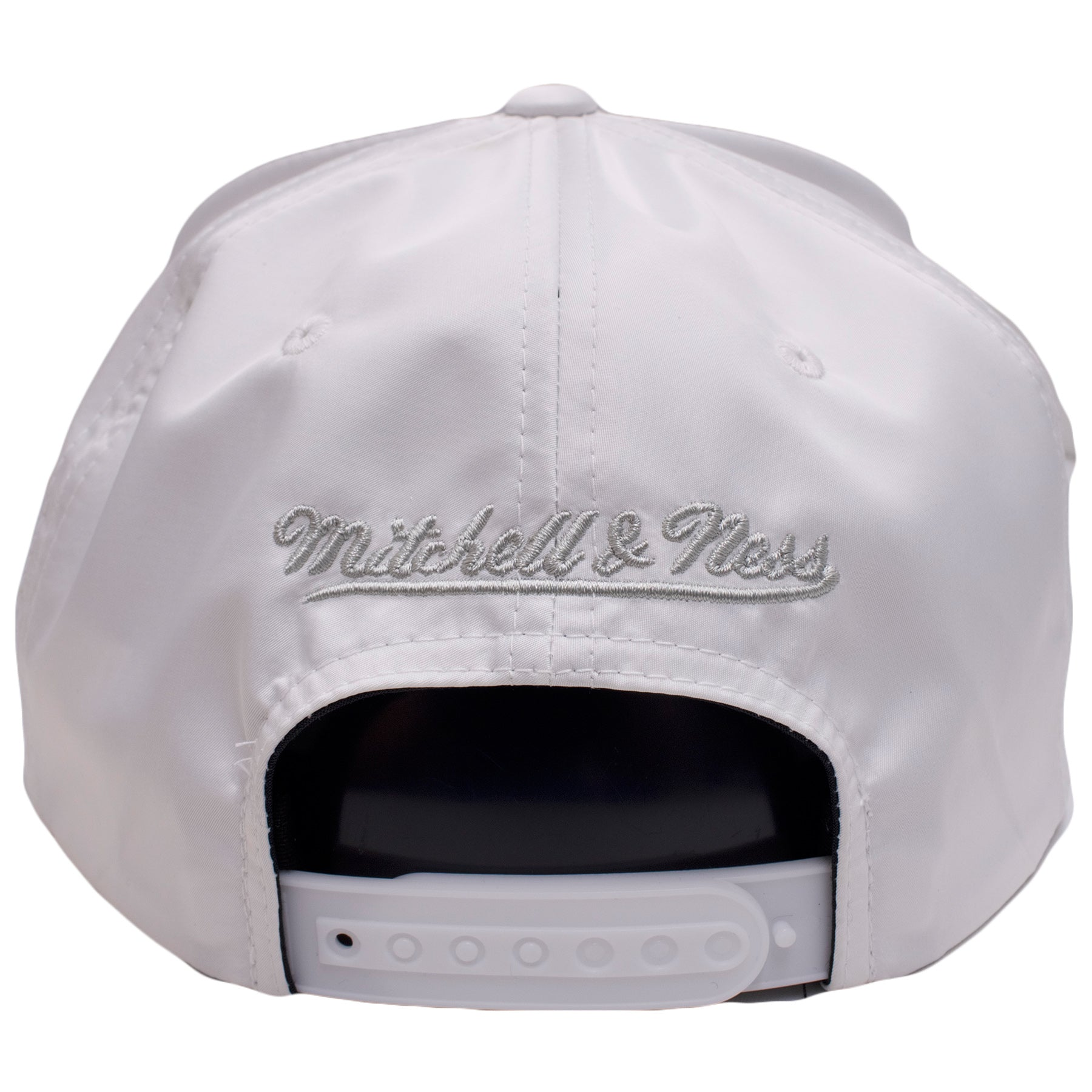 buy online 42b8d bddb2 ... on the back of the chicago bulls white reflective lava has a silver  mitchell and ness ...