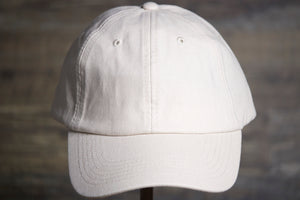 White Dad Hat | Blank White Dad Hat the front of the crown and the brim are both white