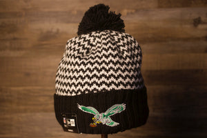 Eagles Women's Beanie | Philadelphia Eagles Retro Women's Beanie this eagles womens beanie is black and white zig zags all across the top