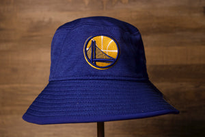 Warriors Bucket hat | Golden State Warriors Royal Blue Bucket Hat the front of this warriors bucket hat is royal blue with the golden state logo right in the middle of the crown