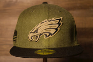 Eagles  Salute to Service 2018Fitted Cap  | Philadelphia Eagles Fitted Hat this eagles salute to service hat is meant to raise awareness for our troops