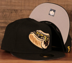 The black Philly cheeseteak with onions New Era fitted cap.