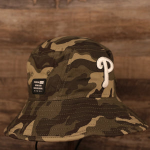 The Philadelphia Phillies bucket hat for the 2021 Armed Forces Day is OSFM.