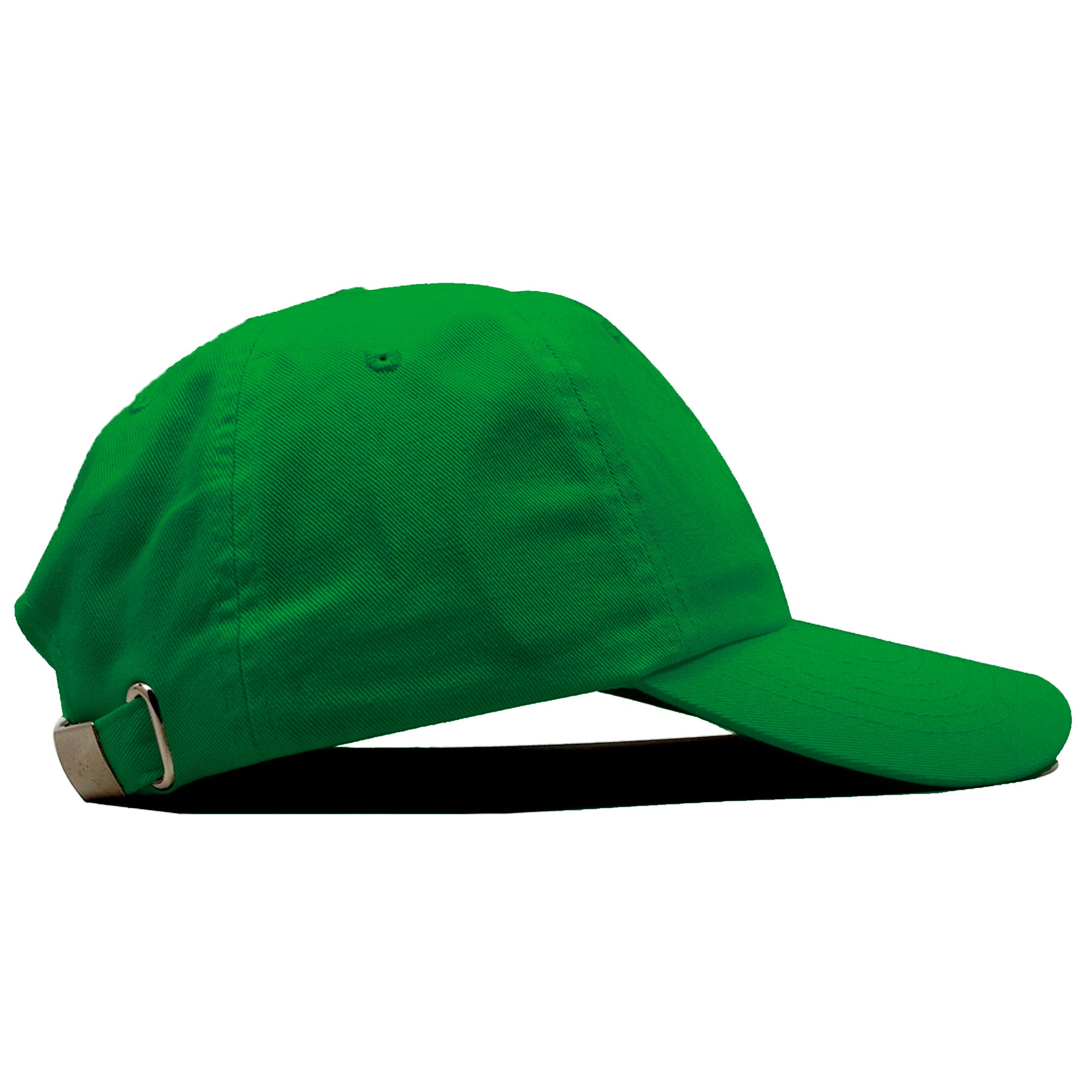 d72f4658e8576 ... The blank kelly green adjustable baseball cap fits a variety of head  sizes.