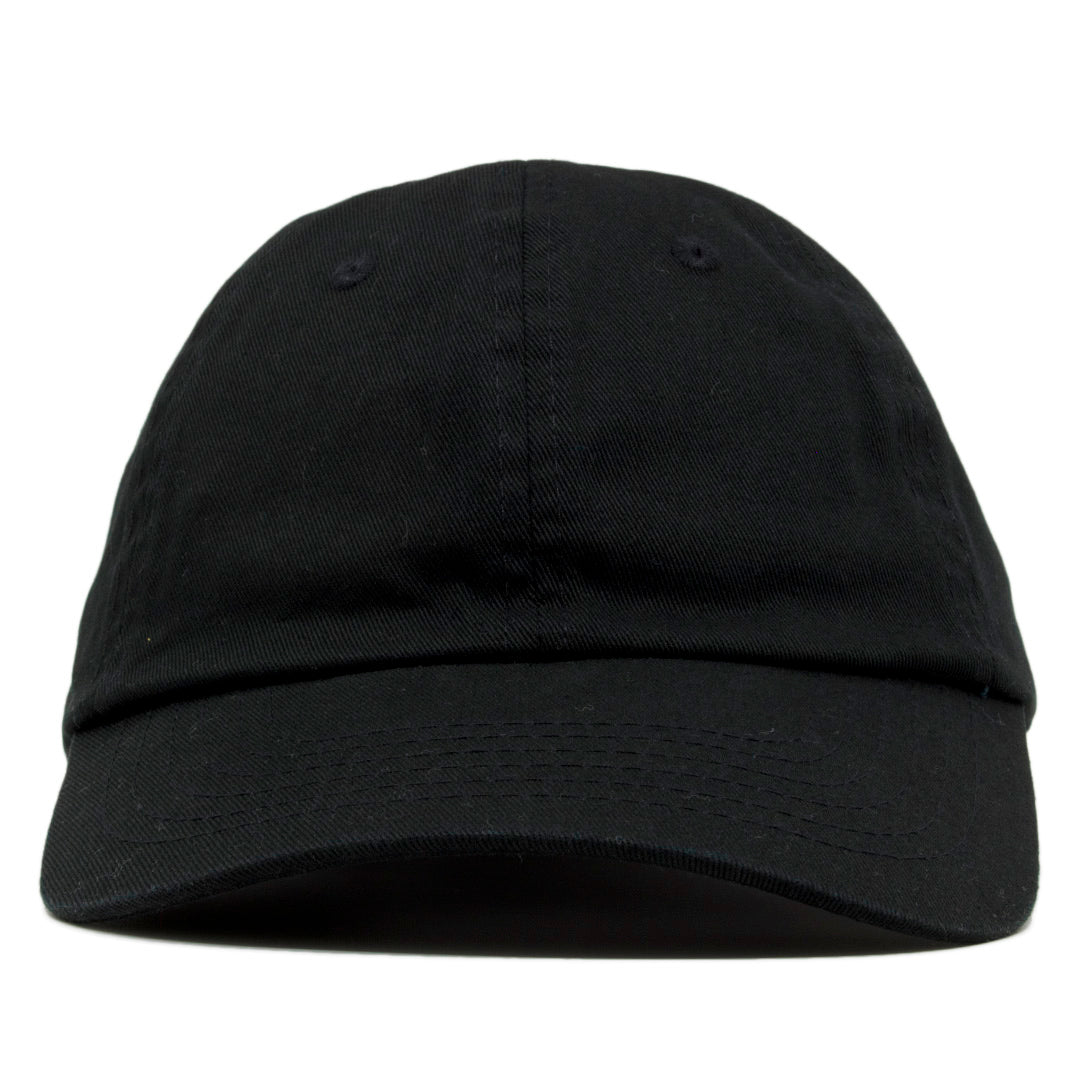90ccdaa4de13d The blank black dad hat has no design on the front