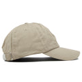 The blank khaki adjustable baseball cap fits a variety of head sizes.