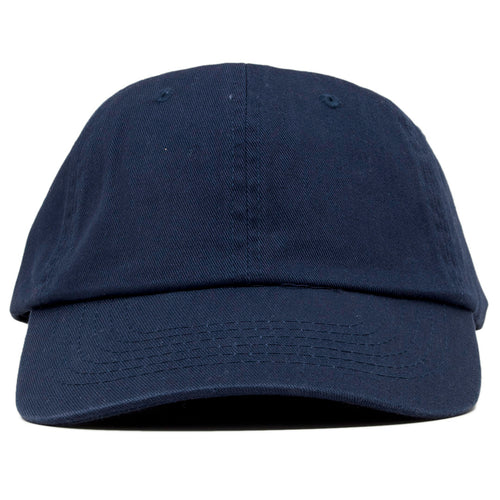 7f39eda5dd The blank navy dad hat has no design on the front