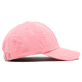 The blank pink adjustable baseball cap fits a variety of head sizes.