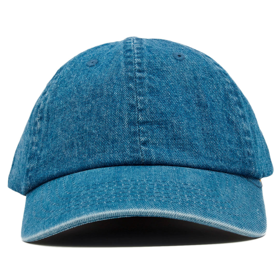 db1cb372048 The blank denim dad hat has no design on the front