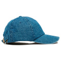 The blank denim adjustable baseball cap fits a variety of head sizes.