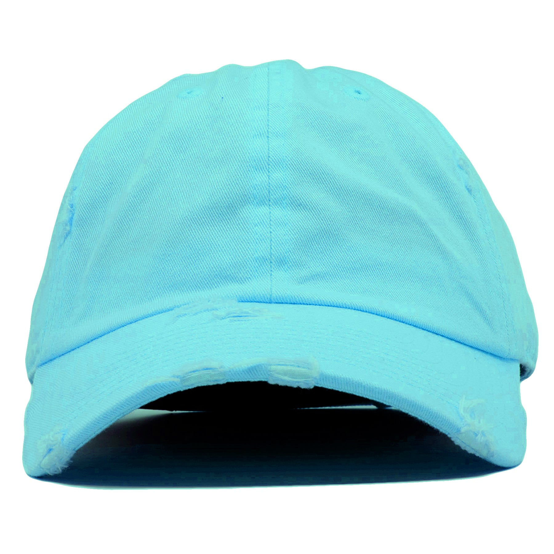 The blank diamond blue vintage distressed dad hat has a soft crown and a  bent brim 774bc32c678