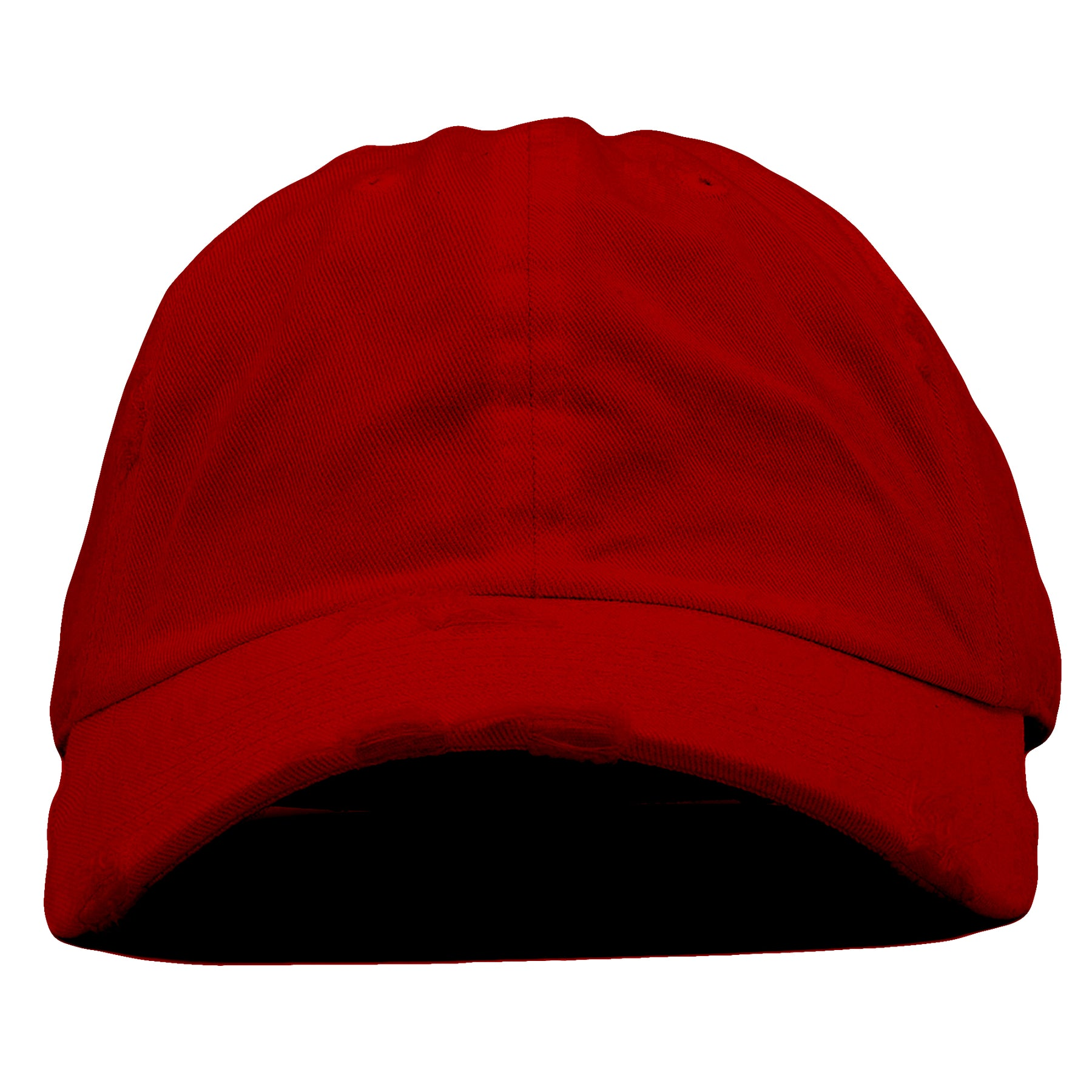 4bd283064a2 The blank maroon vintage distressed dad hat has a soft crown and a bent  brim.