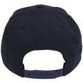 on the back of the chicago bulls dunk from above snapback hat is a navy blue adjustable snap