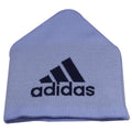 on the back of the sporting kc knit beanie is the adidas logo knit in navy blue