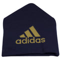 on the back of the philadelphia union knit beanie is the adidas logo knit in tan