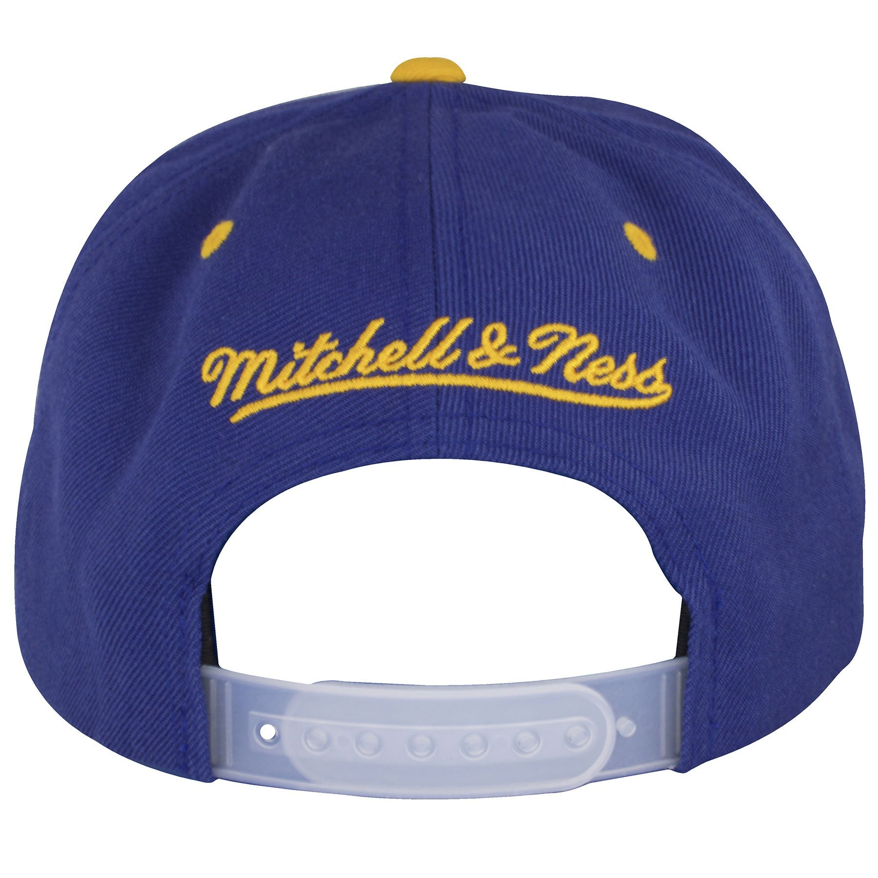 new products 24148 f8d76 ... on the back of the reflective buffalo sabres snapback hat is a yellow  mitchell and ness ...