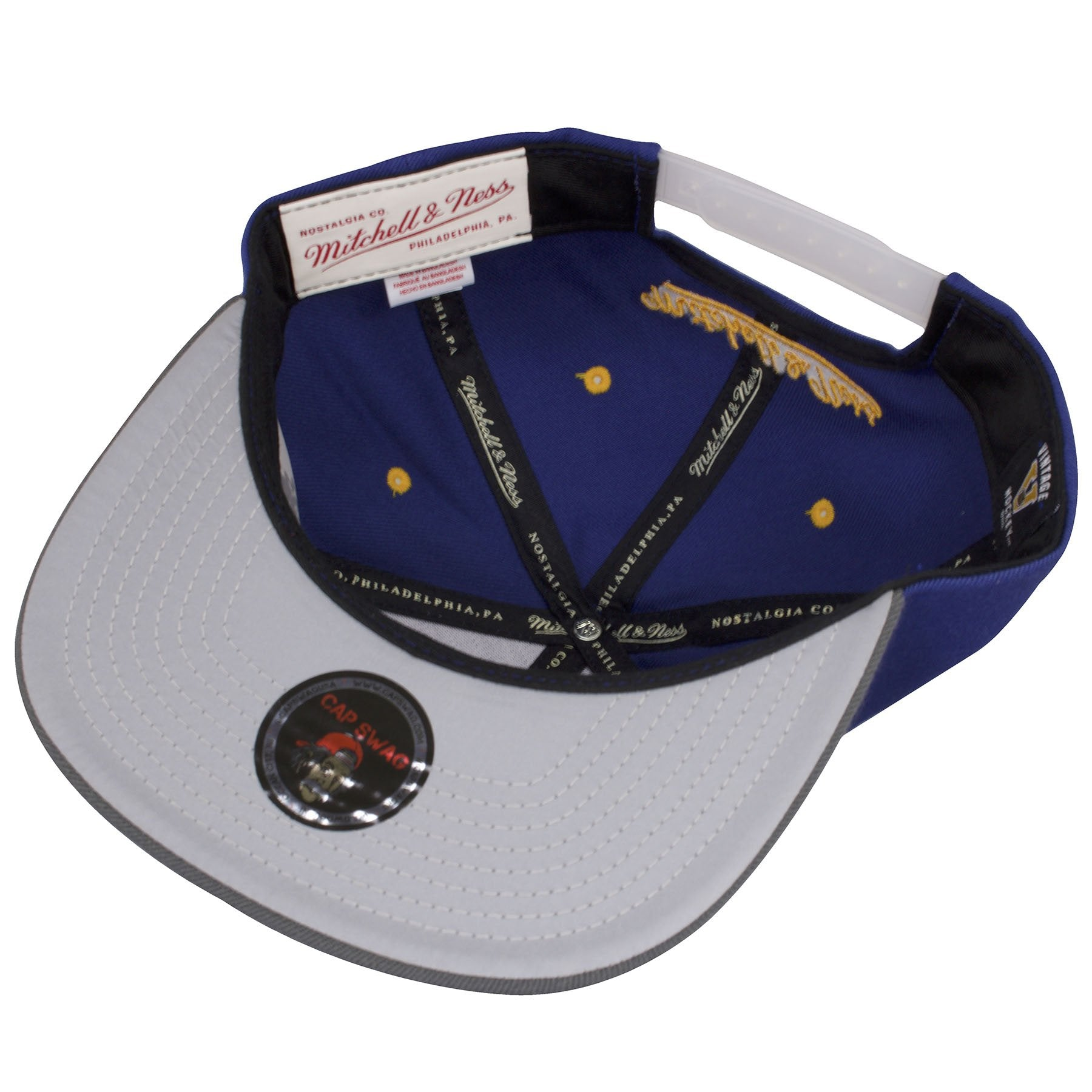 best service 2a4ce 460dd ... yellow mitchell and ness  the under brim of the reflective buffalo  sabres snapback hat is reflective gray