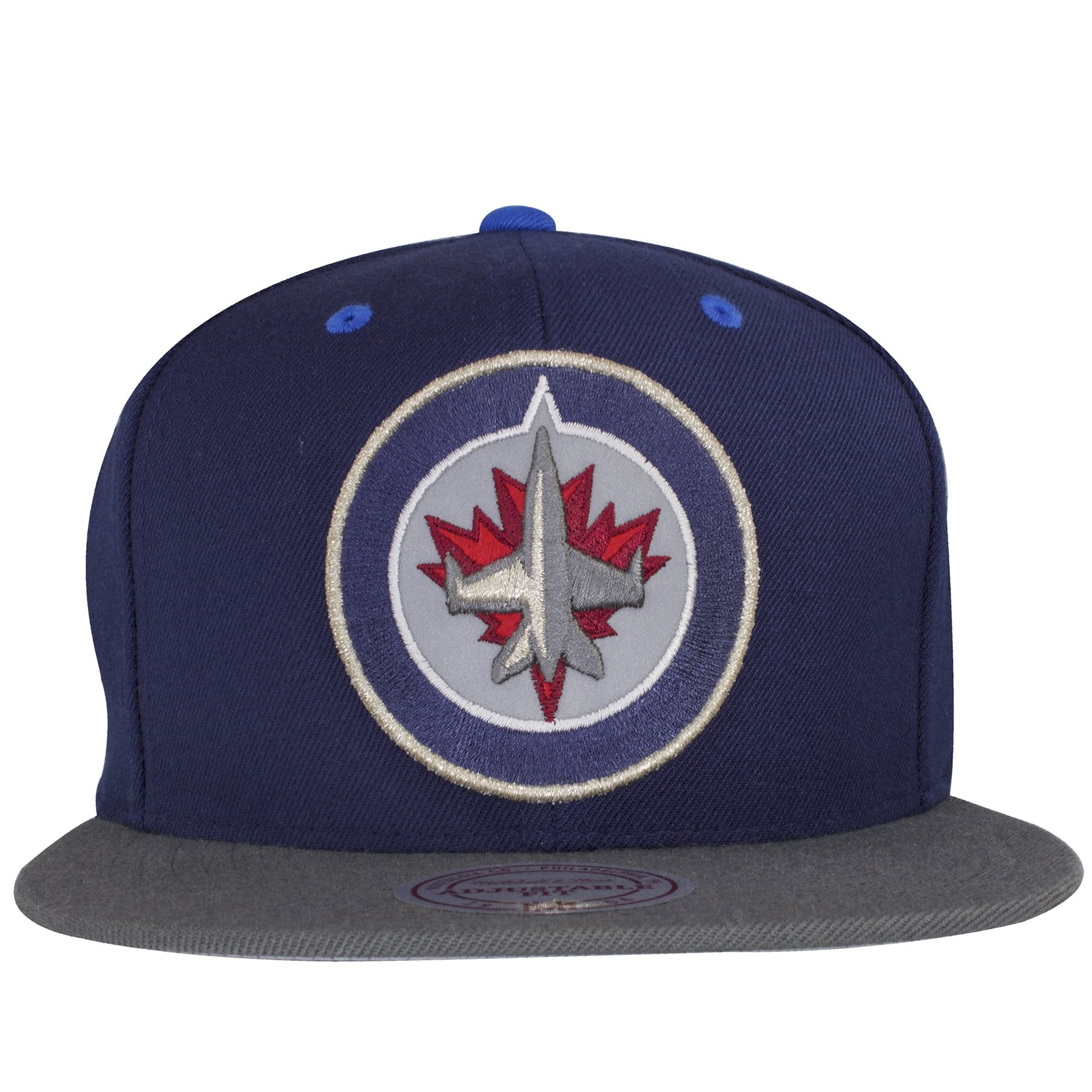 on the winnipeg jets reflective snapback hat is the winnipeg jets logo  embroidered on the front 3be6b86a58cd