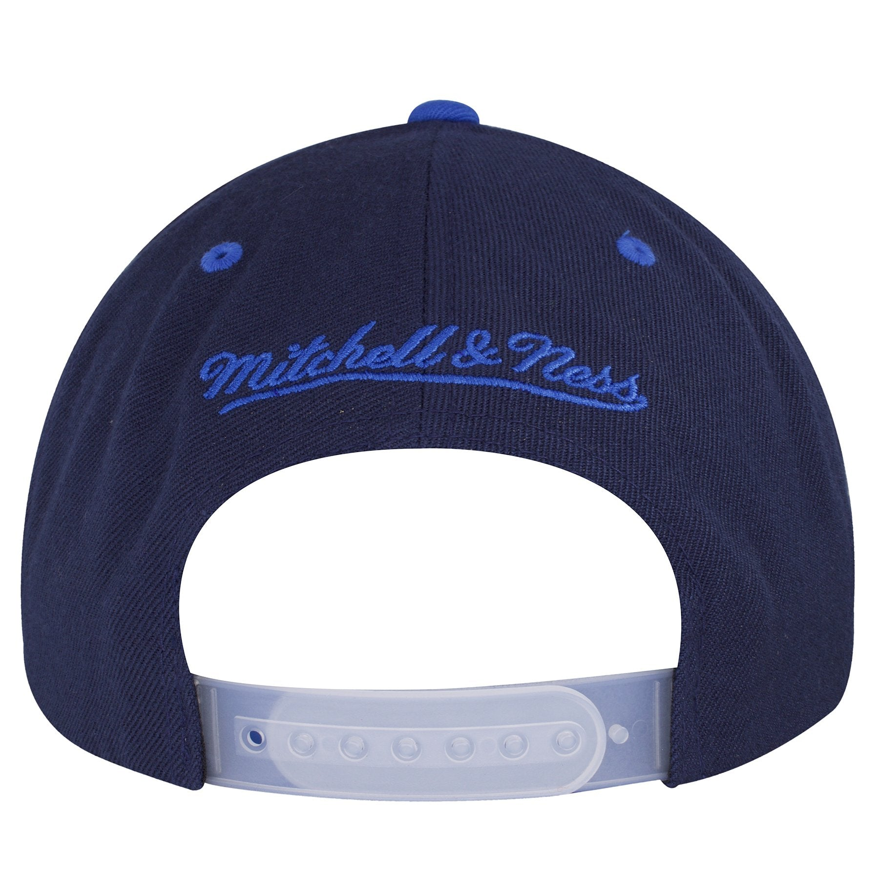 ... the back of the winnipeg jets reflective snapback hat has the mitchell  and ness logo embroidered ... 6e53c1e3778a