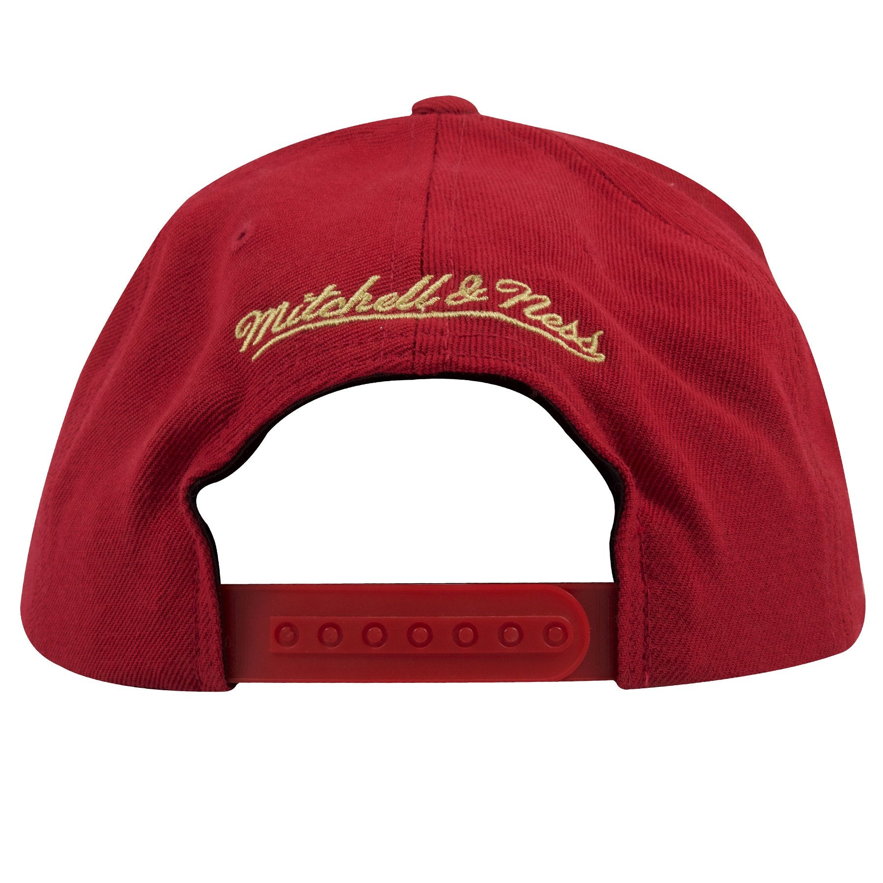 21230e2001344 ... The back side of this Mitchell and Ness San Francisco 49ers vintage  snapback hat shows the ...