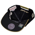 the under brim of the new orleans saints vintage special script snapback hat is black
