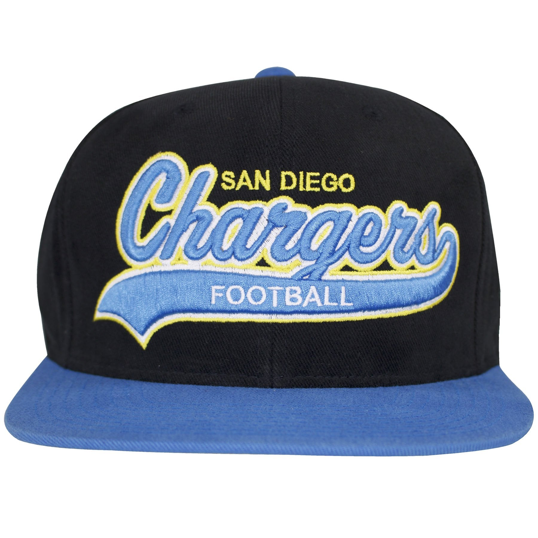 651bc8cad San Diego Chargers writing text can be seen embroidered in powder blue in  front of this
