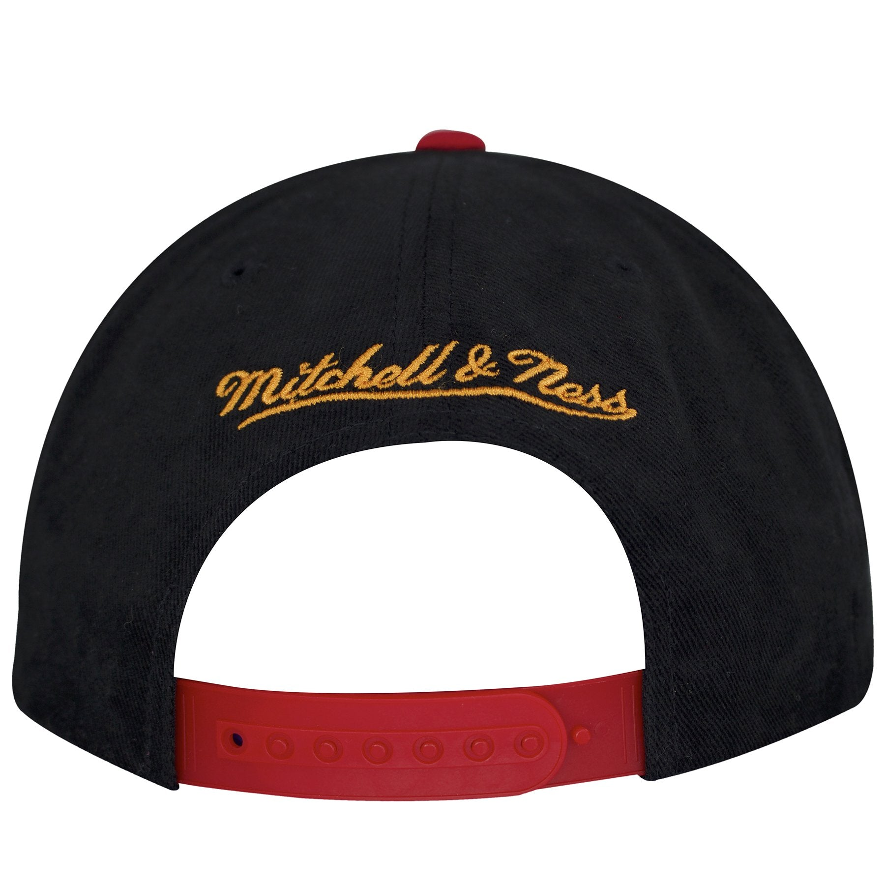 0ec094b6f34b8 ... on the back of the tampa bay buccaneers mitchell and ness retro special  script snapback hat ...