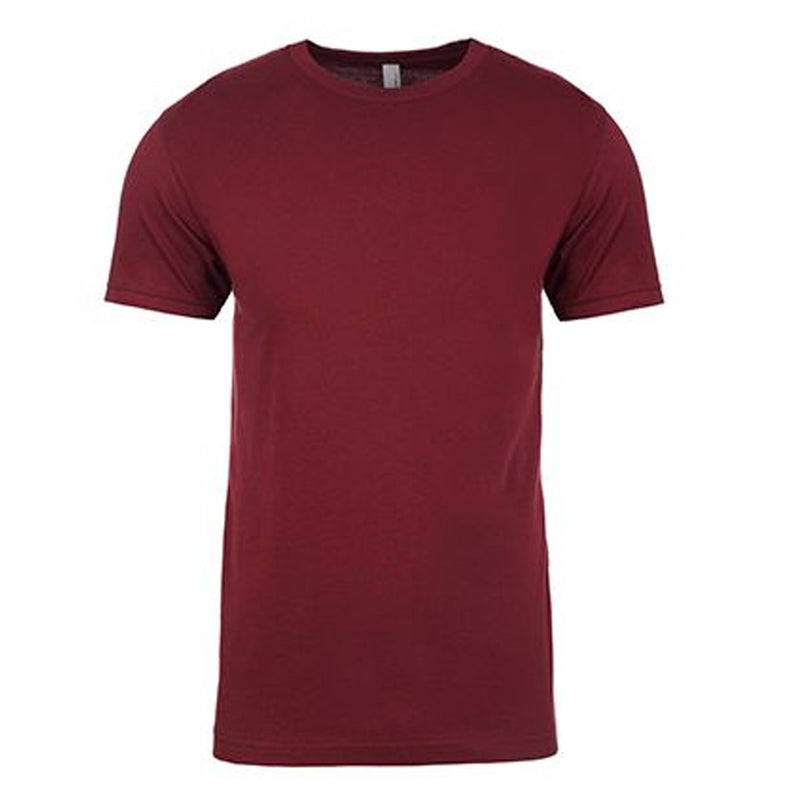 the maroon cotton t-shirt is solid maroon and made of 100% ring spun cotton