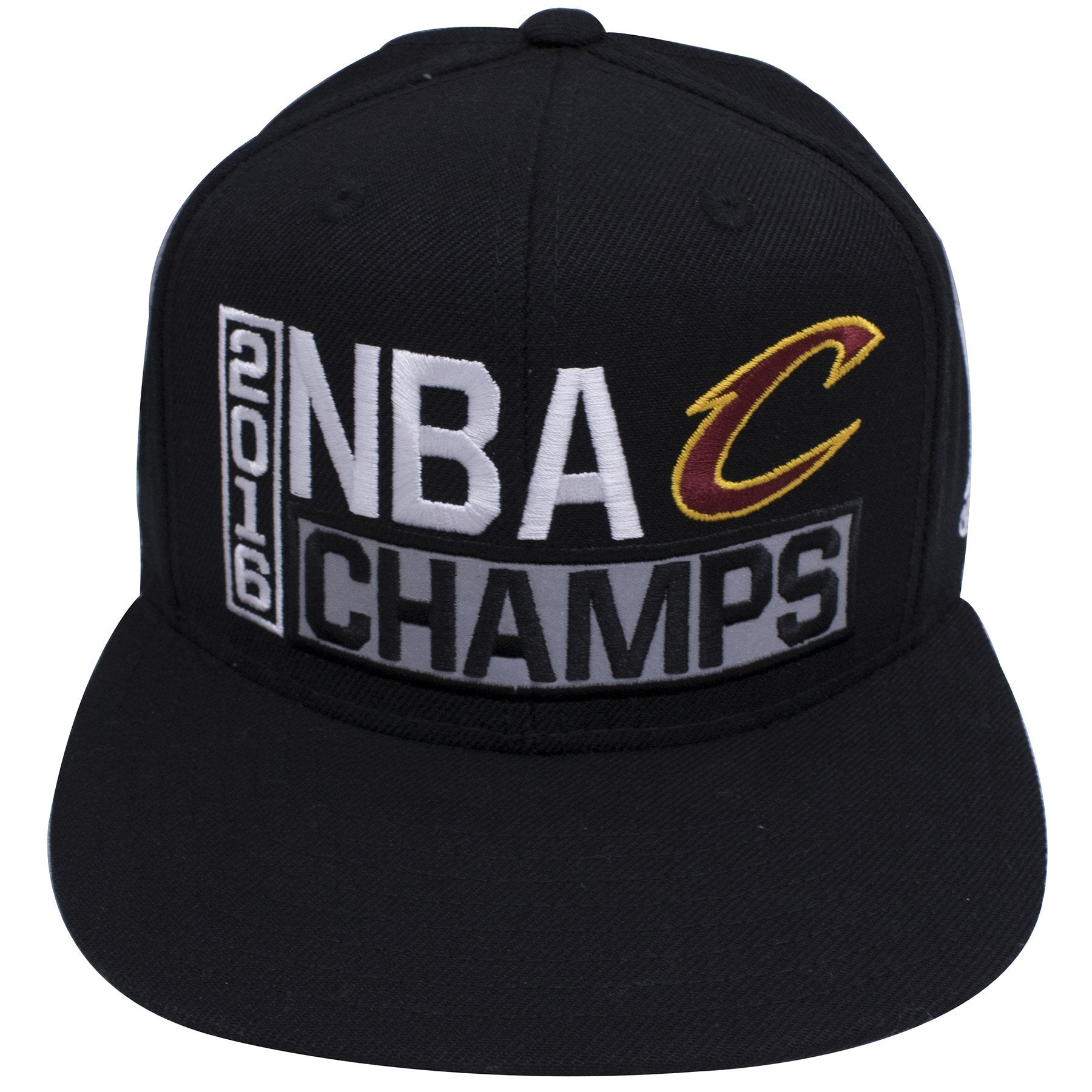 on the front of the 2016 NBA champion Cleveland Cavaliers snapback hat are  the words 2016 e7d80ecf01e