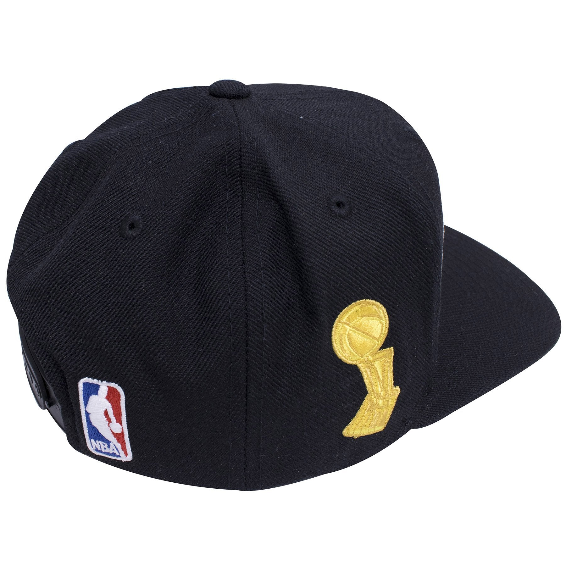 064055c84d8e8 ... on the back of the cleveland cavaliers 2016 nba champions snapback hat  is a white