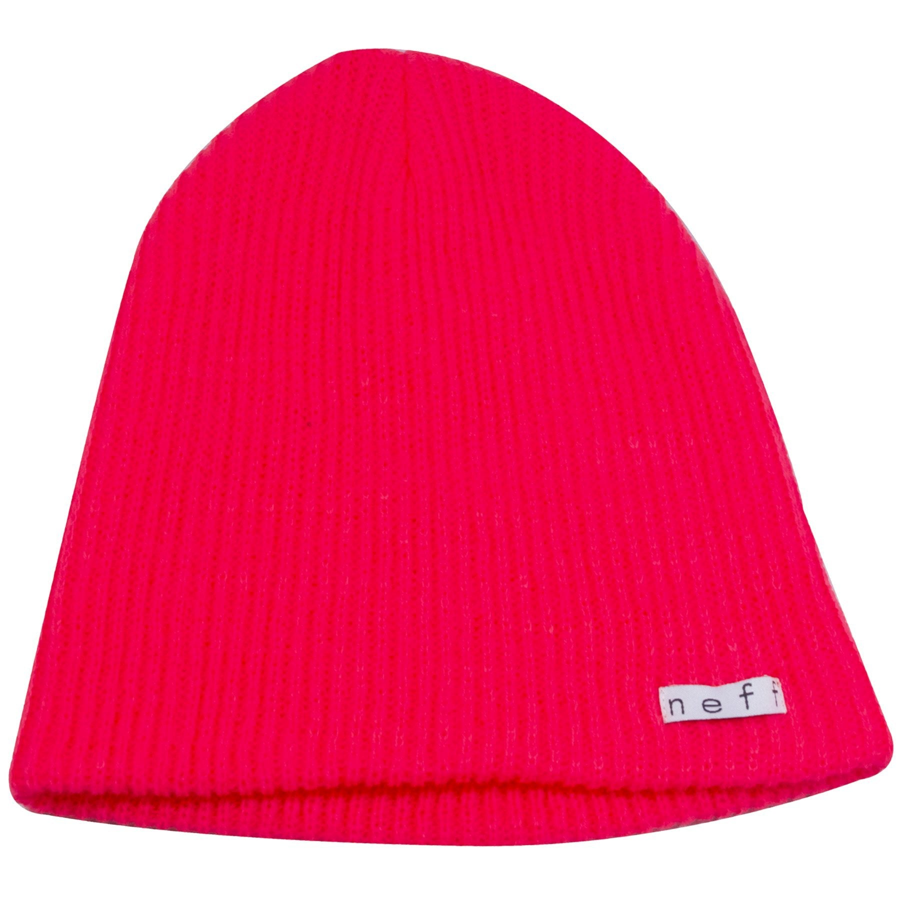 on the front right corner of the Neff Neon Red Daily Beanie is a tag that 7e81b959ce1