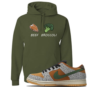 SB Dunk Low Safari Sneaker Military Green Pullover Hoodie | Hoodie to match Nike  Shoes | Broccoli + Beef