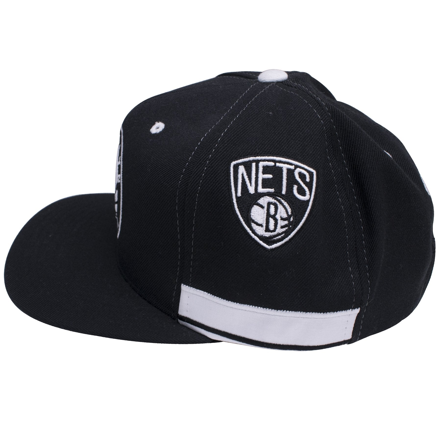 c4f627e8f3b879 ... on the sides of the brooklyn nets on court shorts inspired snapback hats